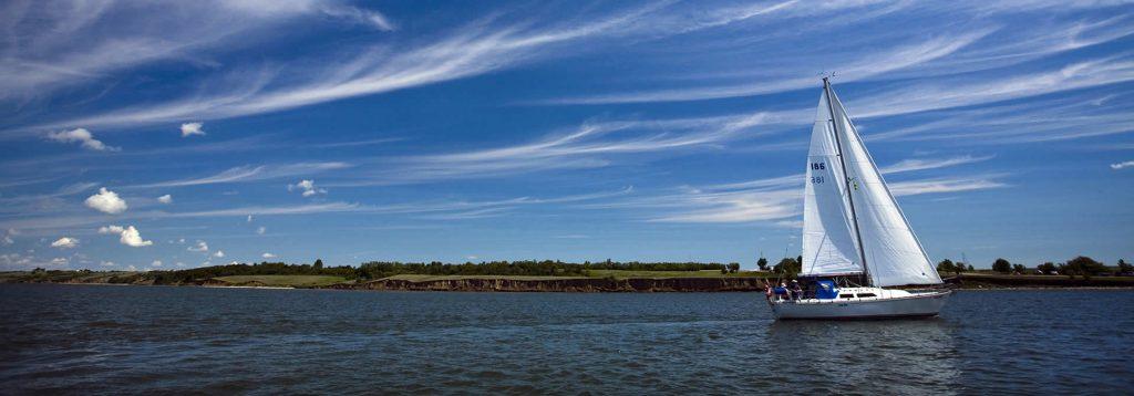 Sailboat on Lake Diefenbaker